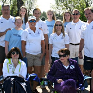 The board, daughter volunteers and Heather with her Mom.  The Heather's RIde Family.